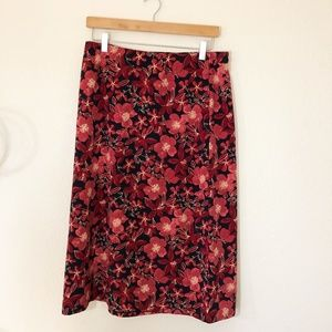 Christopher & Banks Floral Skirt Size 8
